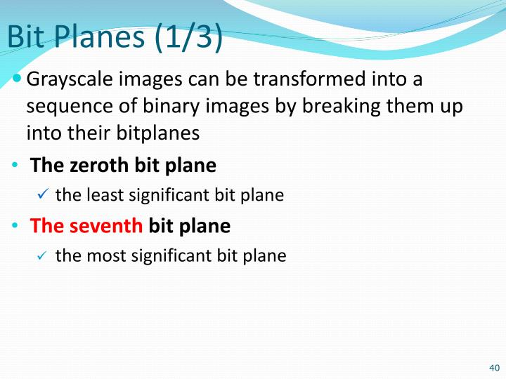 Bit Planes (1/3)