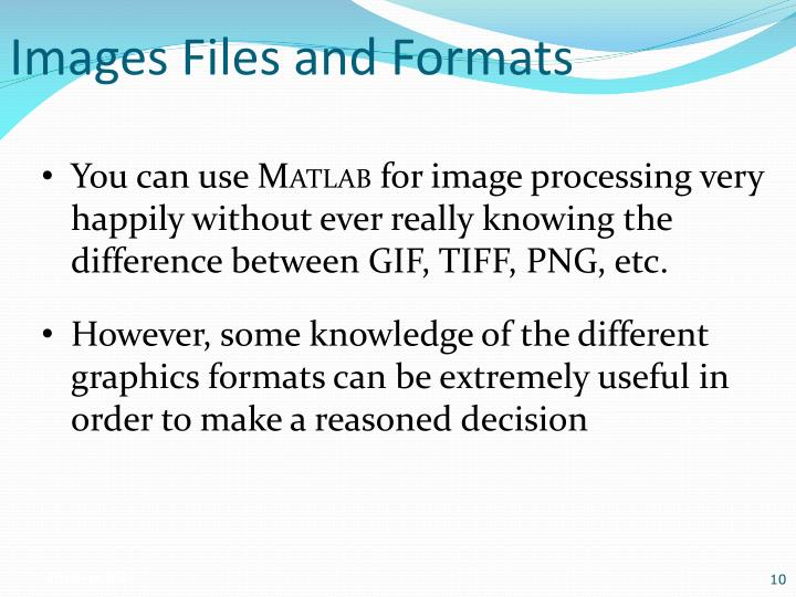 Images Files and Formats