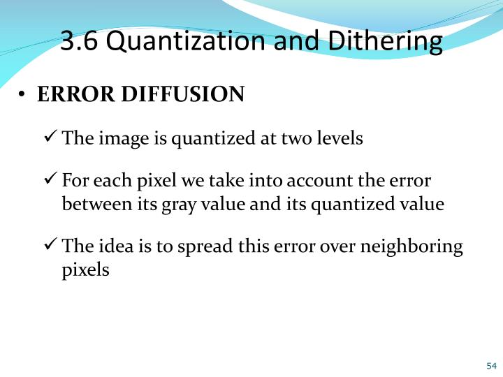 3.6 Quantization and Dithering