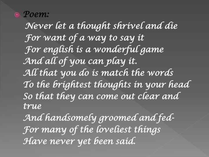 loveliest of trees poem summary