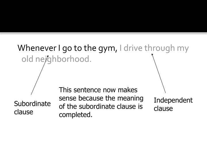 Whenever I go to the gym,