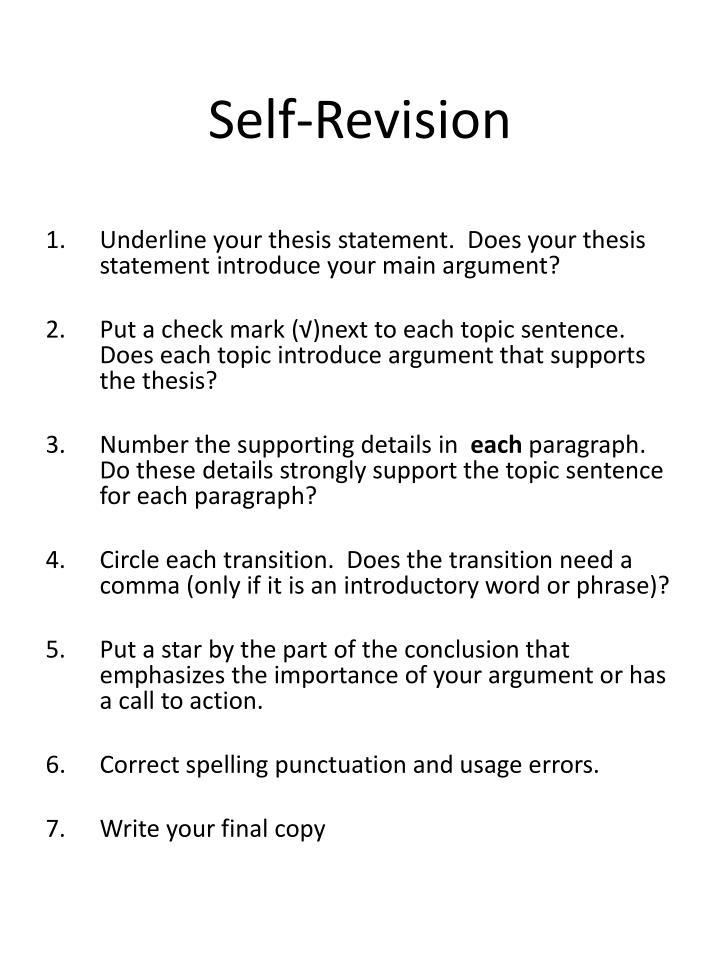 Self-Revision