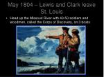 may 1804 lewis and clark leave st louis