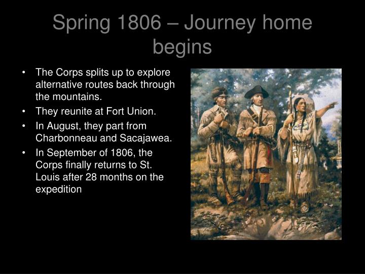Spring 1806 – Journey home begins