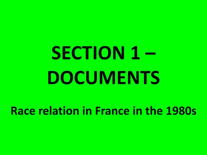 section 1 documents n.