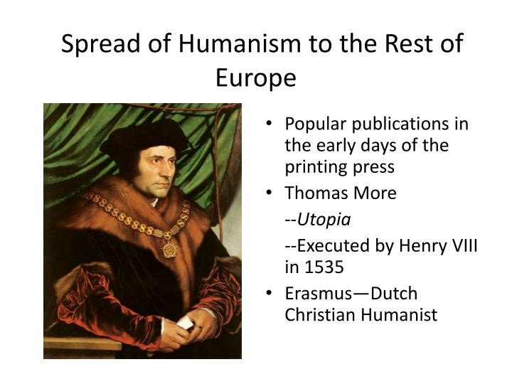 Spread of Humanism to the Rest of Europe