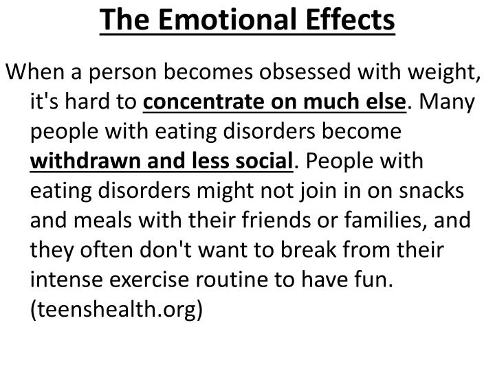 The Emotional Effects