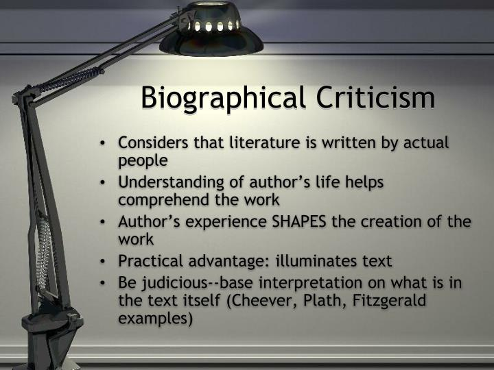 biographical criticism examples