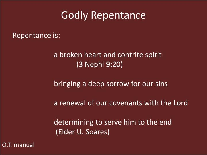 renewal to repentance essay How is it that repentance is the key mark of restoration and covenant renewal since repentance is fundamentally relational, a turning to a person in relationship, it is thus essential to covenant renewal, as the people of god turn away from those objects (whether gods or selfish acts) that captured their affections and turn to their god.