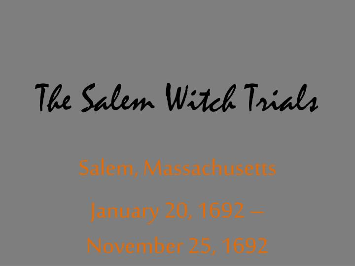 the salem witch trials n.