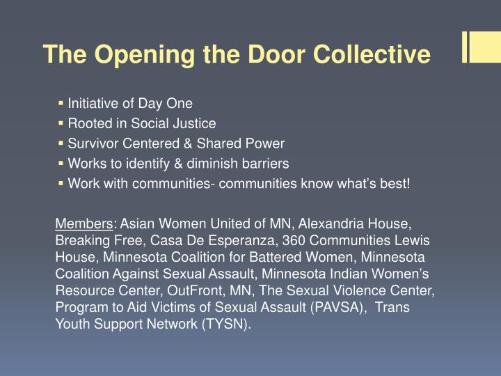 The opening the door collective1