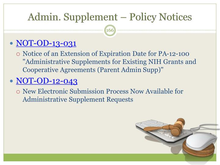Admin. Supplement – Policy Notices