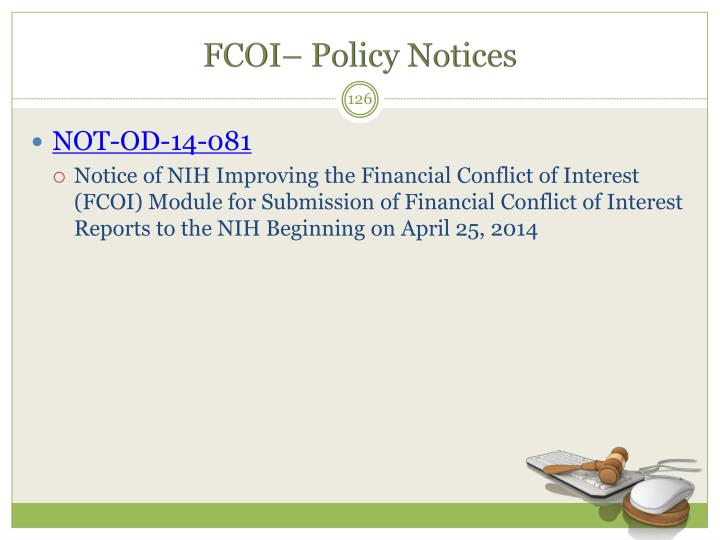 FCOI– Policy Notices
