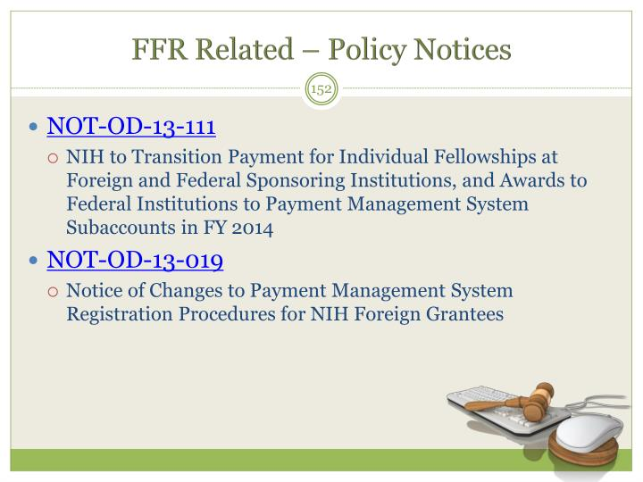 FFR Related – Policy Notices