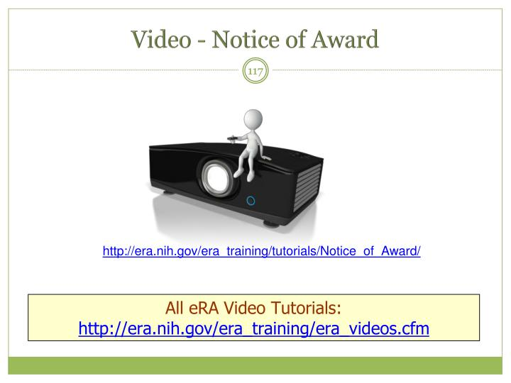 Video - Notice of Award