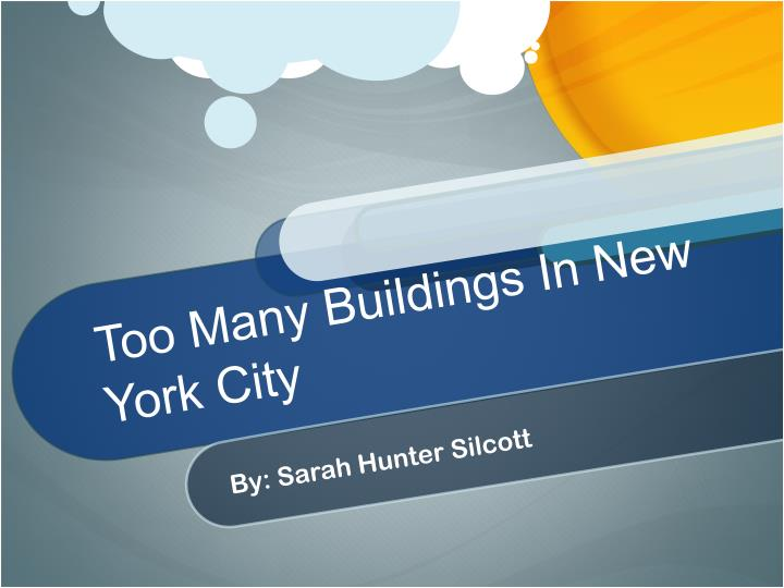 too many buildings in new york city n.