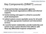 key components draft continued