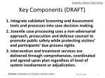 key components draft