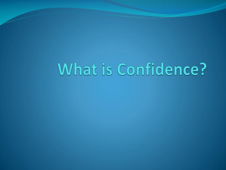 what is confidence n.