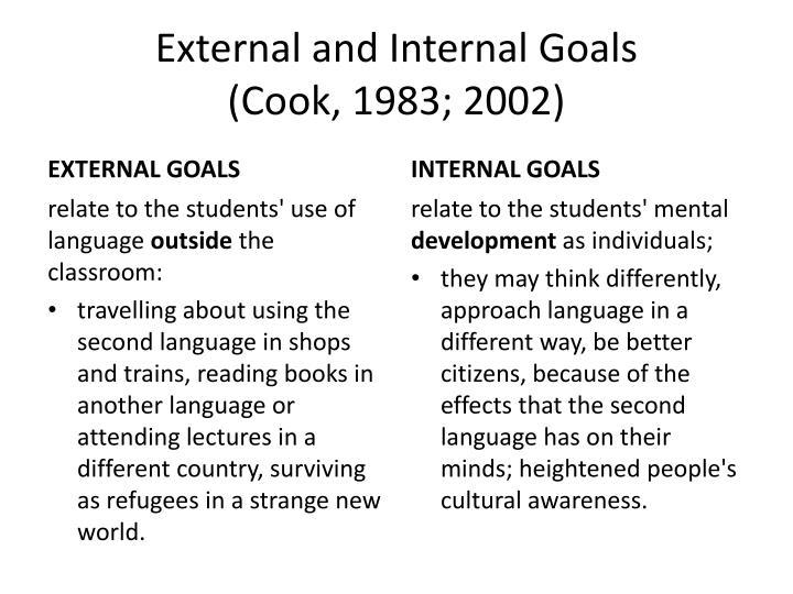 External and Internal Goals