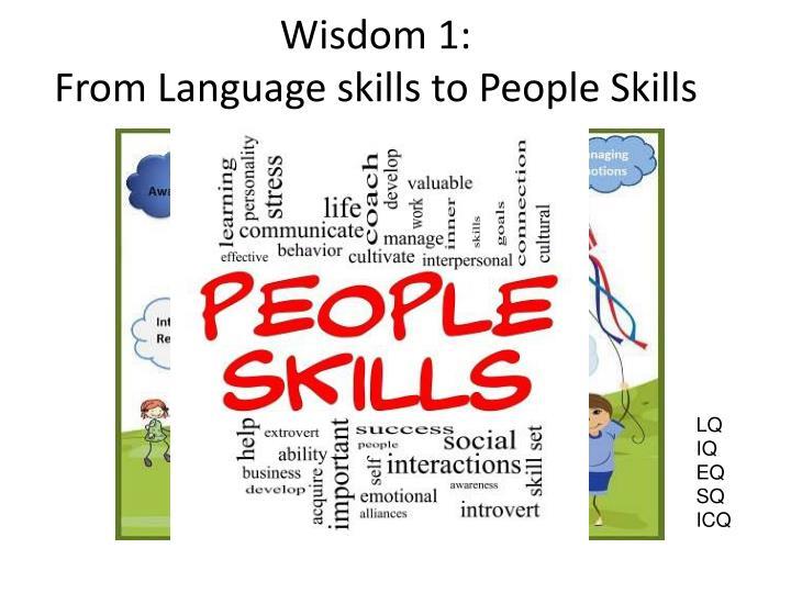 Wisdom 1: