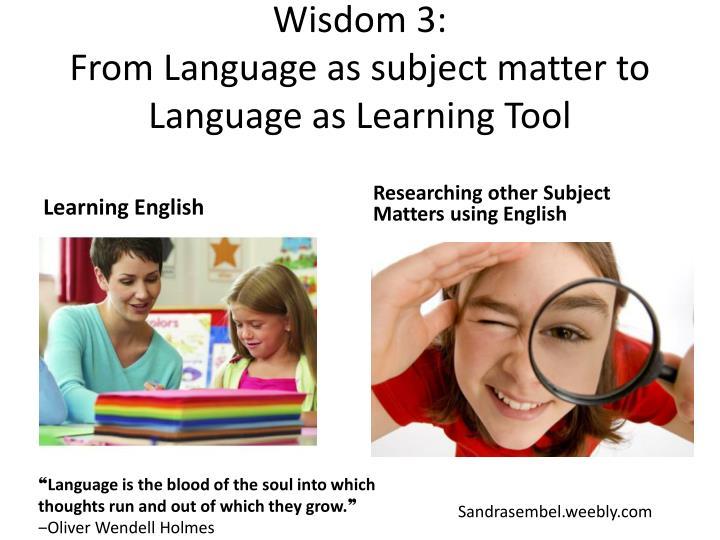 Wisdom 3: