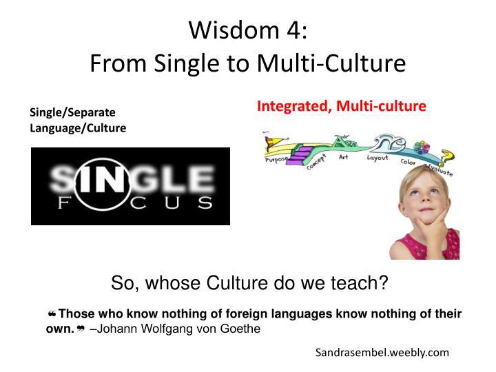 Wisdom 4: