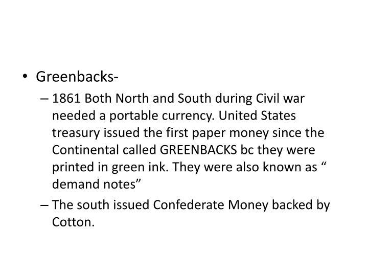 Greenbacks-