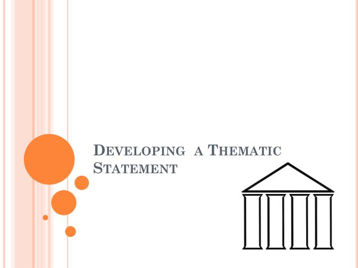 developing a thematic statement n.