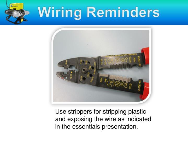 Stripping Wires