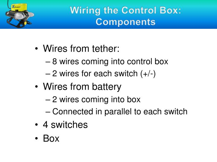 Wiring the Control