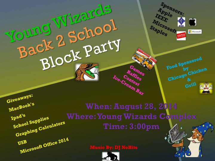 young wizards back 2 school block party n.