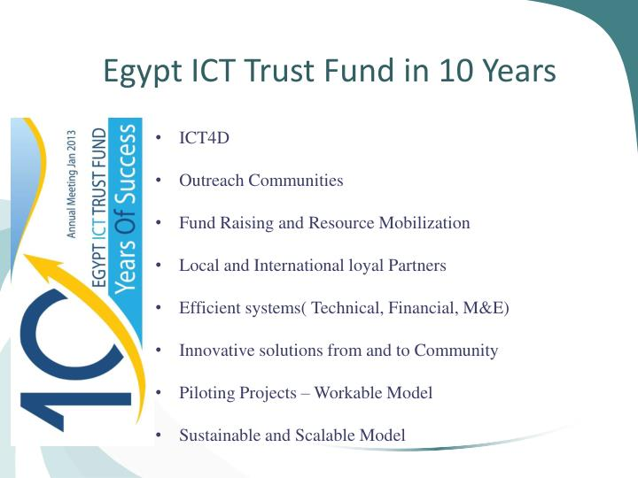 Egypt ICT Trust Fund in 10 Years