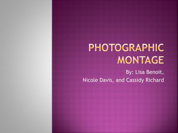 photographic montage n.