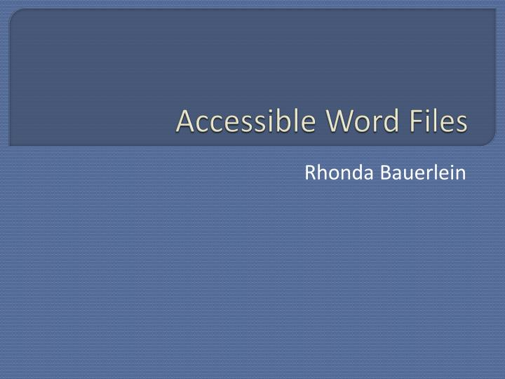 accessible word files n.