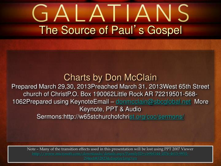 The Source of Paul
