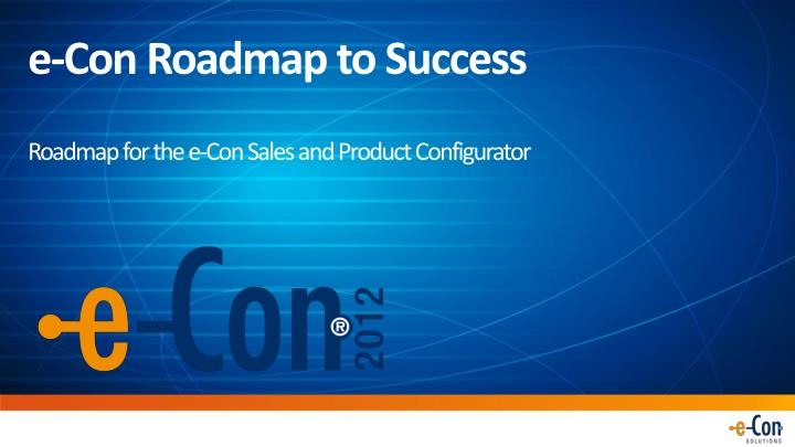 e con roadmap to success n.