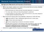 mactavish insurance materiality analysis6