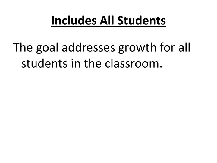 Includes All Students