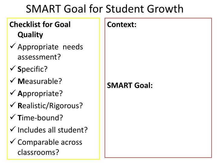SMART Goal for Student Growth