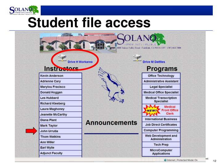 Student file access