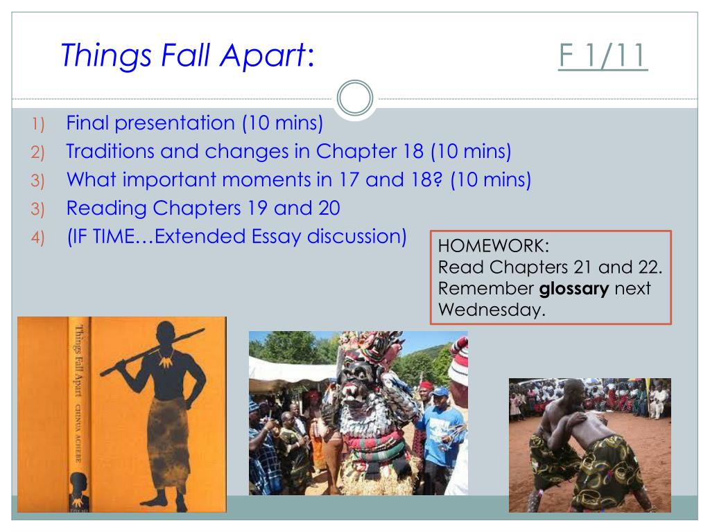 tradition in things fall apart essays