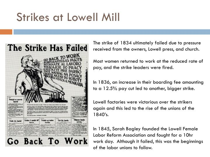 Strikes at Lowell Mill