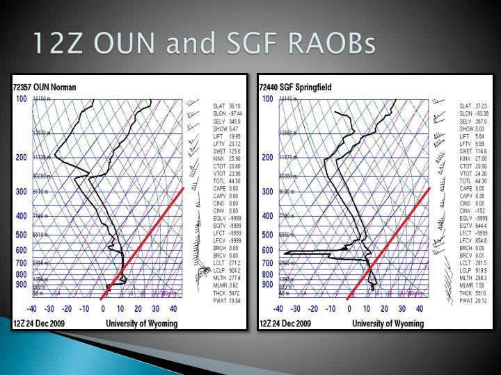 12Z OUN and SGF RAOBs