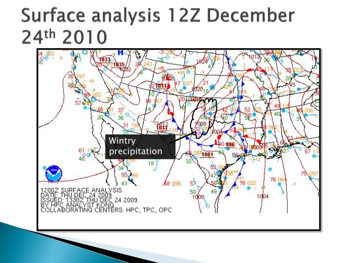 Surface analysis 12Z December 24