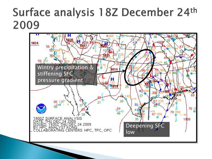 Surface analysis 18Z December 24