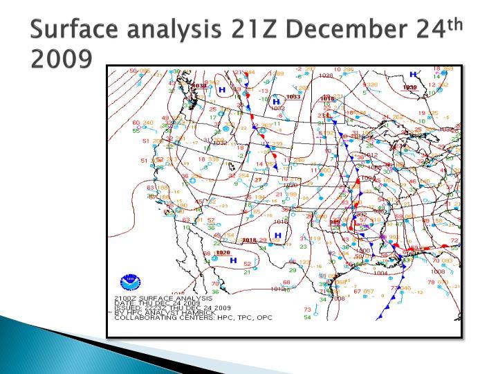 Surface analysis 21Z December 24