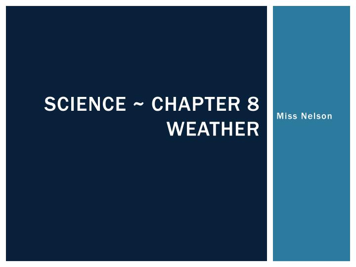 science chapter 8 weather n.