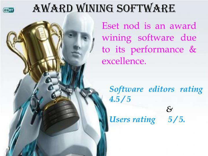 Award Wining Software