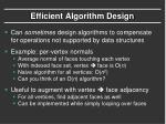 efficient algorithm design1